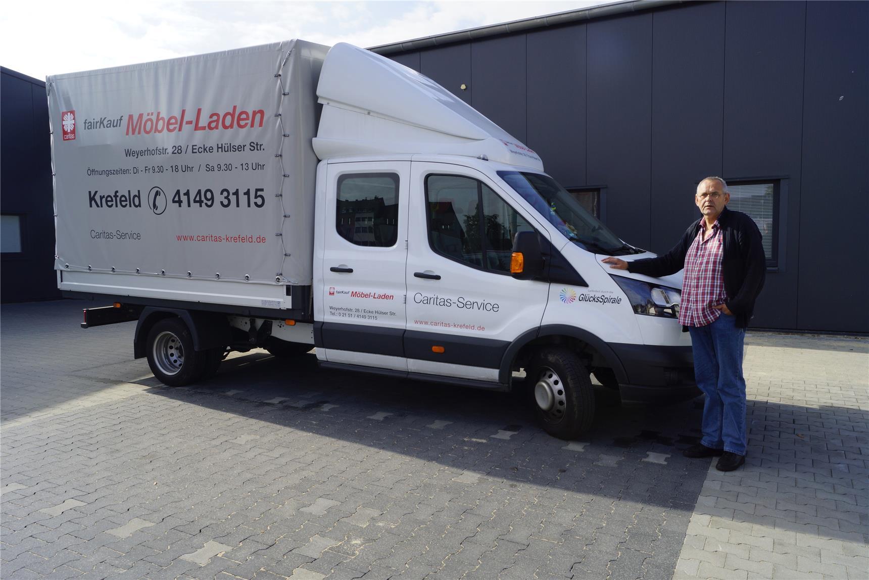 Für Neuer Caritas Laden Caritas Lastwagen Möbel Fairkauf Kctlj1f
